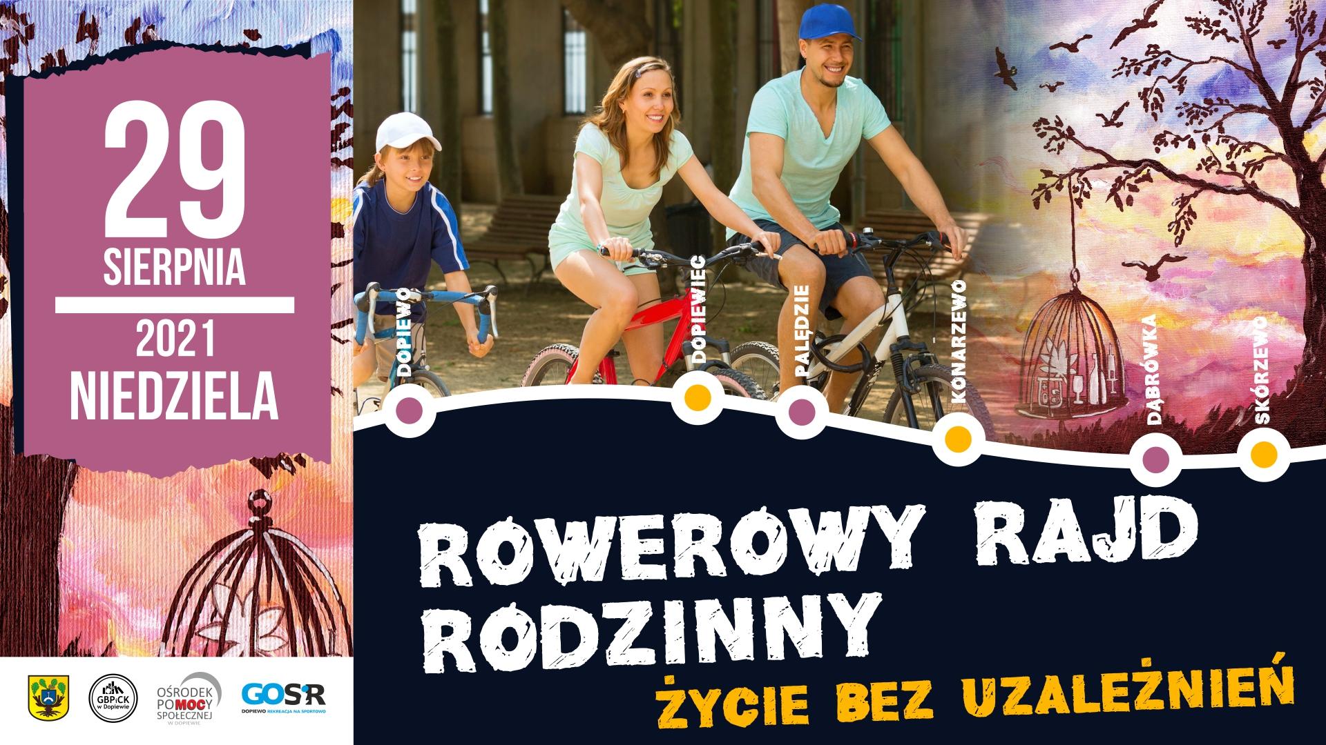 Rodzina jedzie na roweże