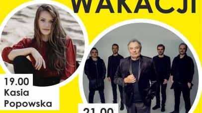 na zdjęciu widać zespół i wokalistkę na żółtym tle