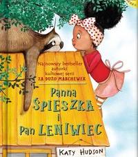 Okładka książki na której widać dziewczynkę i leniwca na dachu domu.