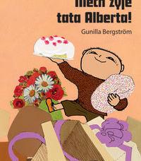 Okładka książki na której widać chłopca z torem, kwiatami i prezentami.